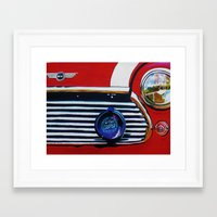 mini cooper Framed Art Prints featuring mini cooper by shirley davies