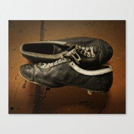 Vintage Baseball Cleats Canvas Print