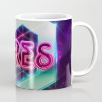 spires Mugs featuring Spires 80's Neon  by Spires