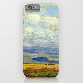 Classical Masterpiece 'Oregon Landscape' by Frederick Childe Hassam iPhone Case