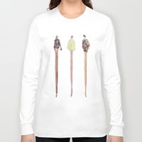 legs Long Sleeve T-shirts featuring Legs Legs Legs by Matthew Young