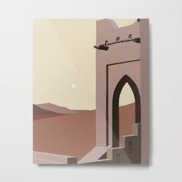 Oriental Vibes #abstract #digitalart Metal Print