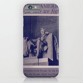 Vintage American World War 2 Poster - This is America: Government of the People (1943) iPhone Case