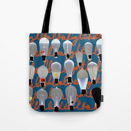 Lightbulbs Tote Bag