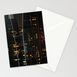 Singapore at night. Stationery Cards