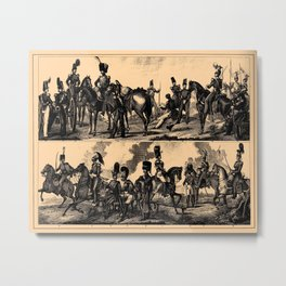 Iconographic Encyclopedia of Science, Literature and Art (1851) - British and Belgian cavalry Metal Print