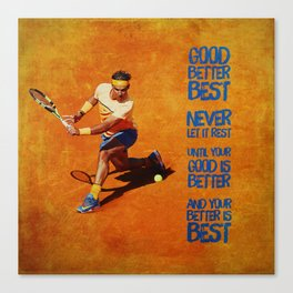 Rafael Nadal Best Canvas Print