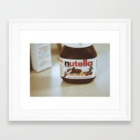 nutella Framed Art Prints featuring Nutella by Danielle Clark