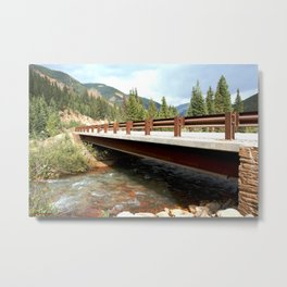 Bridge Over Mineral Creek Metal Print