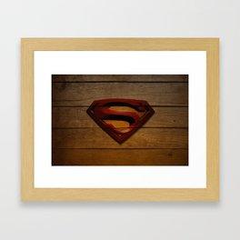 SuperWood Framed Art Print