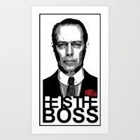 boardwalk empire Art Prints featuring Boss of the Boardwalk by DomaDART