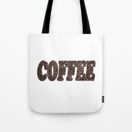 Coffee Bean Word Tote Bag