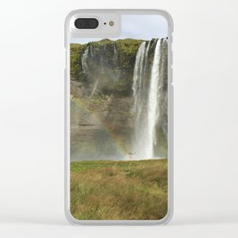 Waterfall and Rainbow Clear iPhone Case