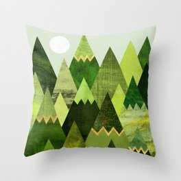 Forest Mountains Throw Pillow
