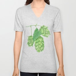 Beer Hop Flowers Unisex V-Neck