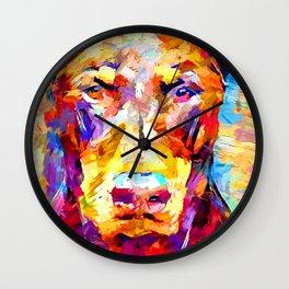 Doberman 3 Wall Clock