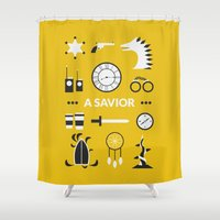 ouat Shower Curtains featuring OUAT - A Savior by Redel Bautista