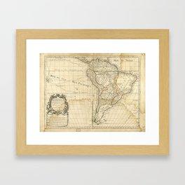Map of South America circa 1708 (L'Amerique meridionale) Framed Art Print