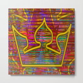 Playing with a crown ... Metal Print