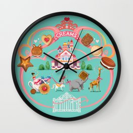 Cookies and Cream, Biscuits and Tea. Wall Clock