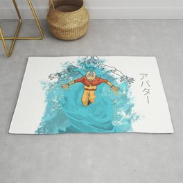 AVATAR AANG IN AVATAR STATE BEAUTIFUL ART PIECE Rug