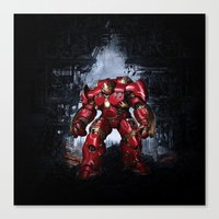 iron man Canvas Prints featuring IRON MAN iron man by alifart