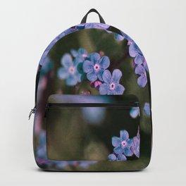 Blue Flower Sunset Backpack