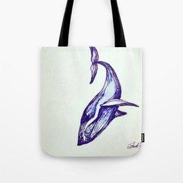Whale Illustration Tote Bag