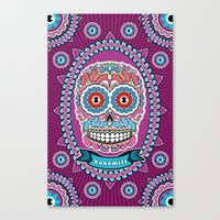 mexican Canvas Prints featuring Mexican Skull by Xonomitl