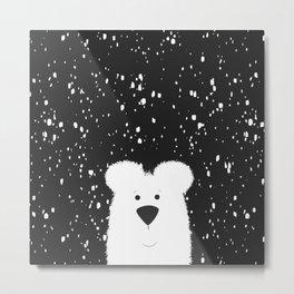 Beary Snowy Metal Print