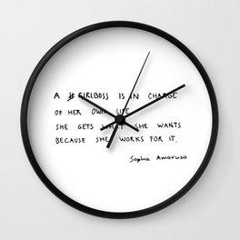 girlboss Wall Clock