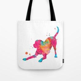 Colorful Playful Labrador Tote Bag