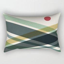 The red dot Rectangular Pillow