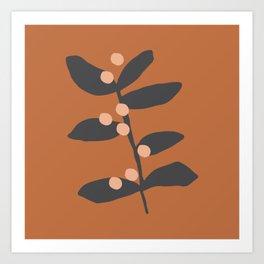 Berries & Branches | Burnt Sienna Art Print