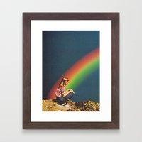 NIGHT RAINBOW Framed Art Print