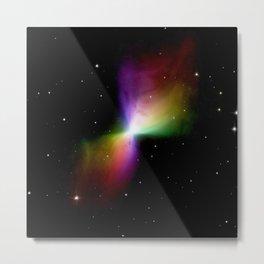 rainboW Space Boomerang Nebula Metal Print