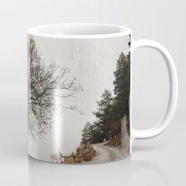 """Mountain path"". Retro Coffee Mug"