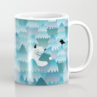 outdoor Mugs featuring Tree Hugger by littleclyde