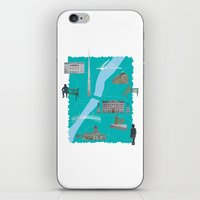 literary iPhone & iPod Skins featuring Literary Dublin by Arron Croasdell