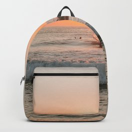 Summer Sunset Surfing Backpack