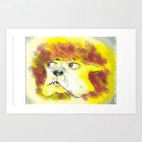 Dog says what? Art Print