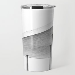 Architectural Study in White Travel Mug