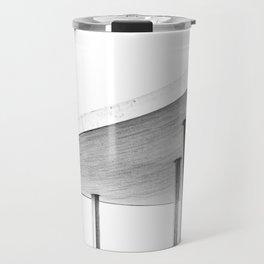 Architectural Study in White Travel Mug