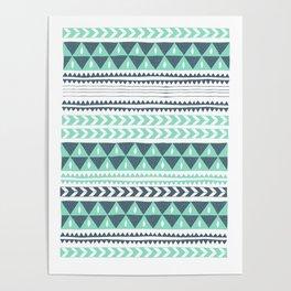 Winter Stripe Poster