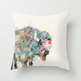 into the wild the buffalo Throw Pillow