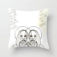ahs Throw Pillows featuring Violet AHS by Luna Perri