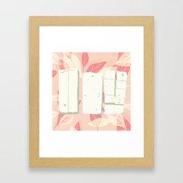 Tofu trio Framed Art Print