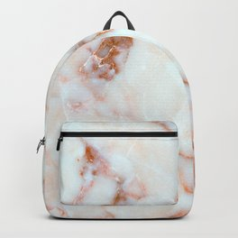 Feminine Carrara Marble with Burnt Coral Accent (x 2021) Backpack
