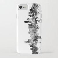 north carolina iPhone & iPod Cases featuring Charlotte North Carolina Skyline by artPause