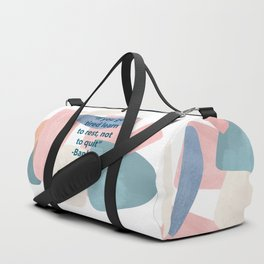 inspirational Banksy quote on pastel abstract Duffle Bag